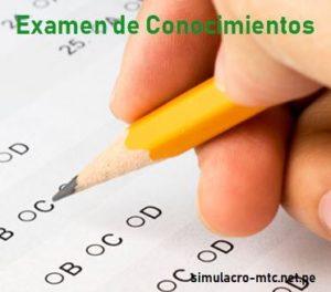 Examen de Reglas de Tránsito MTC
