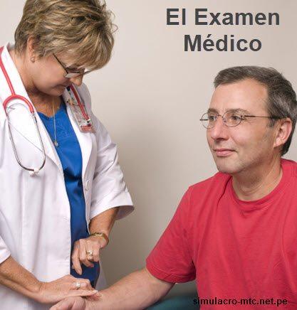Examen Médico para el Brevete del MTC