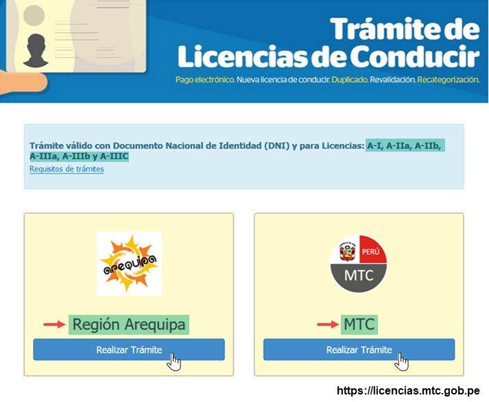 Recategorizar la Licencia de Conducir - Paso 1