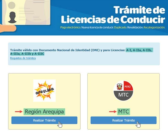 Solicitar la Licencia de Conducir Online - Paso 1