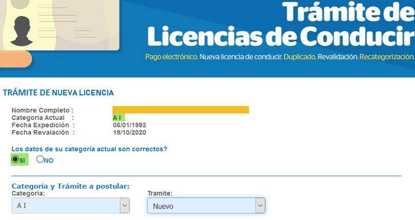 Solicitar la Licencia de Conducir Online - Paso 3